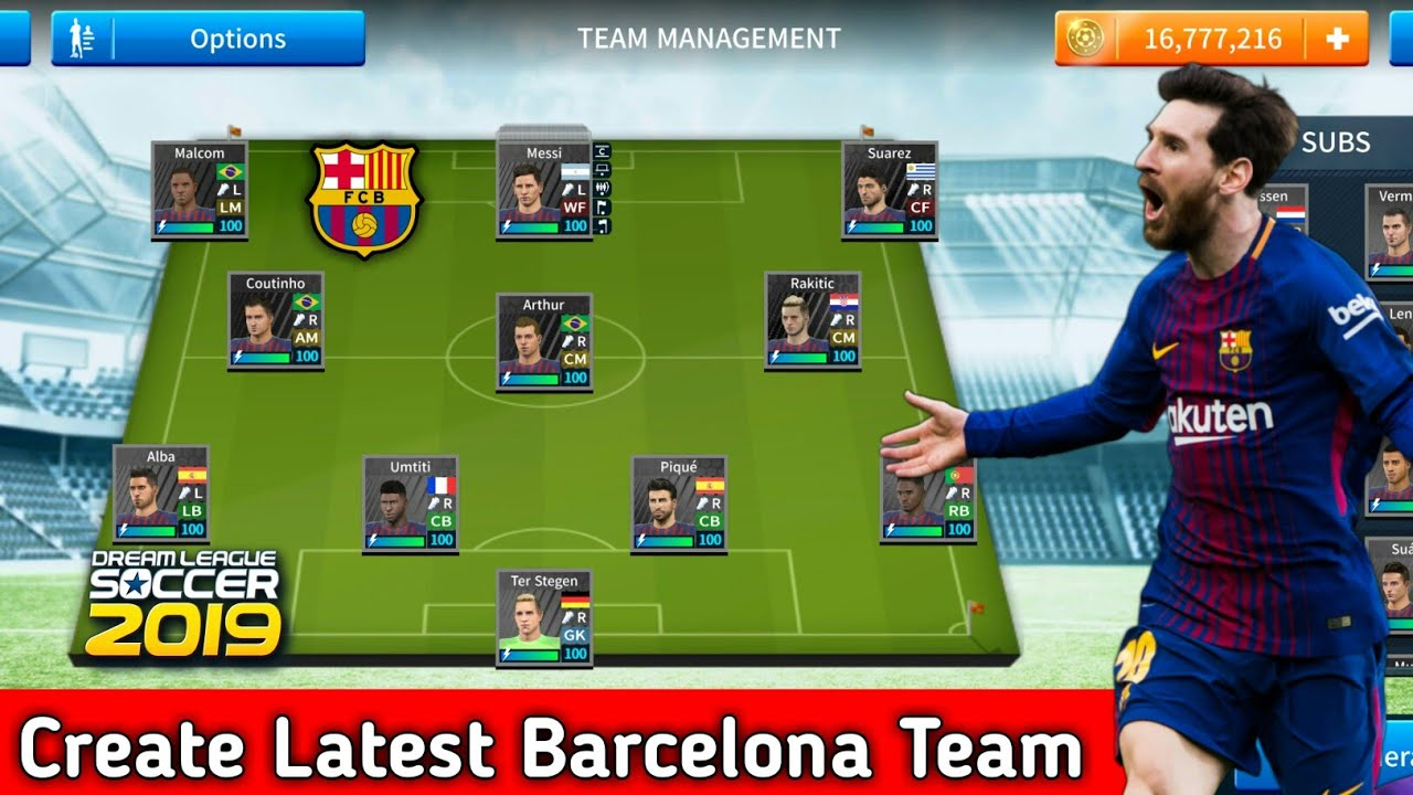 How To Create Fc Barcelona Team In Dream League Soccer 2019