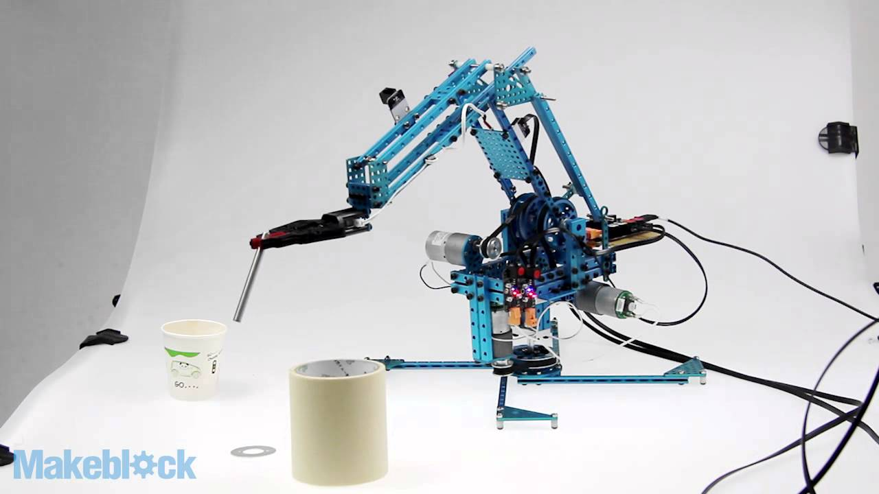 Makeblock Robot Arm Kit Controlled by DIY Joystick