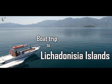 Boat trip to Lichadonisia islands - 4K