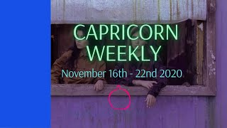 Capricorn - Discussing a future - November 16 - 22 2020 Weekly Love Check-in Tarot Reading