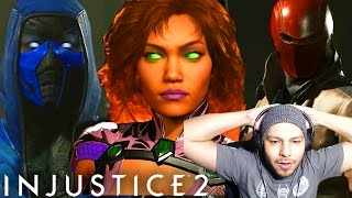 IT FINALLY HAPPENED!! - Injustice 2 Red Hood, Sub Zero & Starfire DLC REACTION! (Injustice 2 DLC)