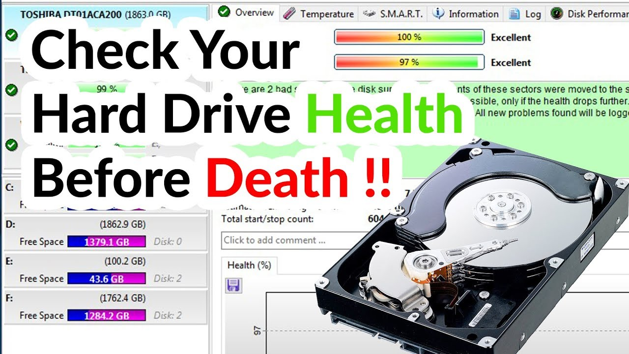 How to Check Hard Drive Health, Error and Bad Sectors