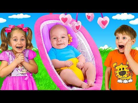 アニタとヤリックは弟と一緒にアクティブなゲームをします。 子供のための面白い話