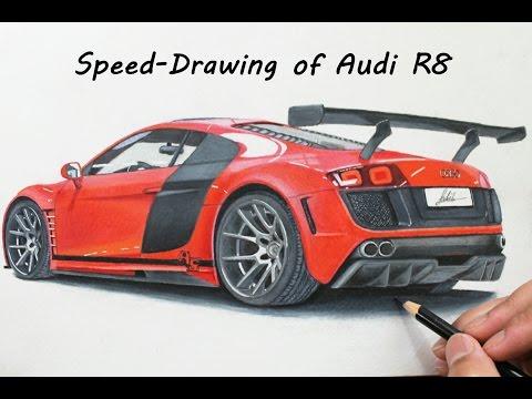 How I draw a 3D Realistic Audi R8