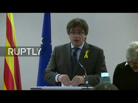 LIVE: Puigdemont gives a statement in Brussels