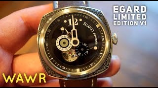 EGARD Limited Edition V-1 Gentlemans Warfare Automatic Watch Review - Engraved CASE!?