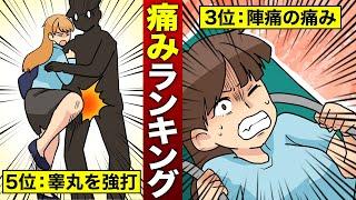 【漫画】人間が経験しうる痛みランキング(マンガ動画)