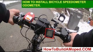 How To Install Bicycle Speedometer Odometer How To Build a Motorized Bicycle Part 20
