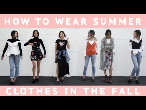 How to Wear Summer Clothes in the Fall | Song of Style