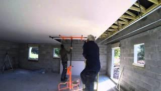 plafond placo ba13 quatrième étape la pose des plaques de ba13