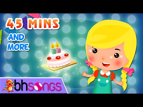 Happy Birthday To You Song, ABC song and more Top Nursery Rhymes - 45 Minutes [Ultra HD 4K ]