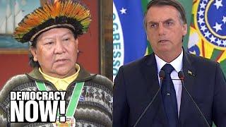 "Indigenous leader Davi Kopenawa calls out Bolsonaro's racism: ""He does not like indigenous people"""