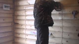 Установка окон в срубе. Вырезаем проем(Сруб установка окон в срубе, подготовка, вырез-пропил проема для окна. Первые весенние деньки., 2016-03-19T14:40:08.000Z)