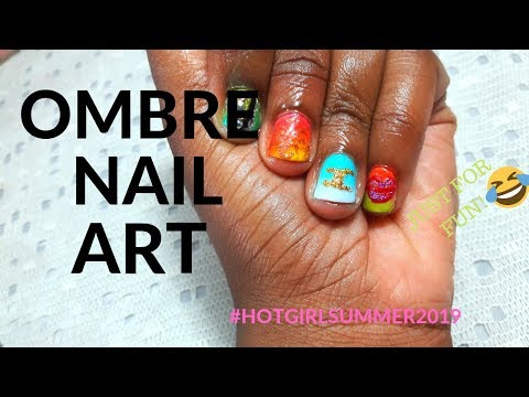 Ombre Nail Art | Nail Tutorial | Hot Girl Summer Nails thumbnail