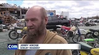 Tornado levels beloved dealership; employees volunteer to help owner