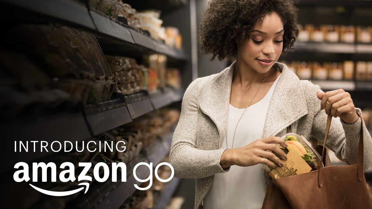 Image result for No more queues! Amazon Go's high-street store lets you walk in, grab items and walk out