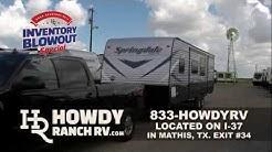 Huge Inventory Blowout 2018 Model RV's For Sale at Corpus Christi / San Antonio RV Dealer