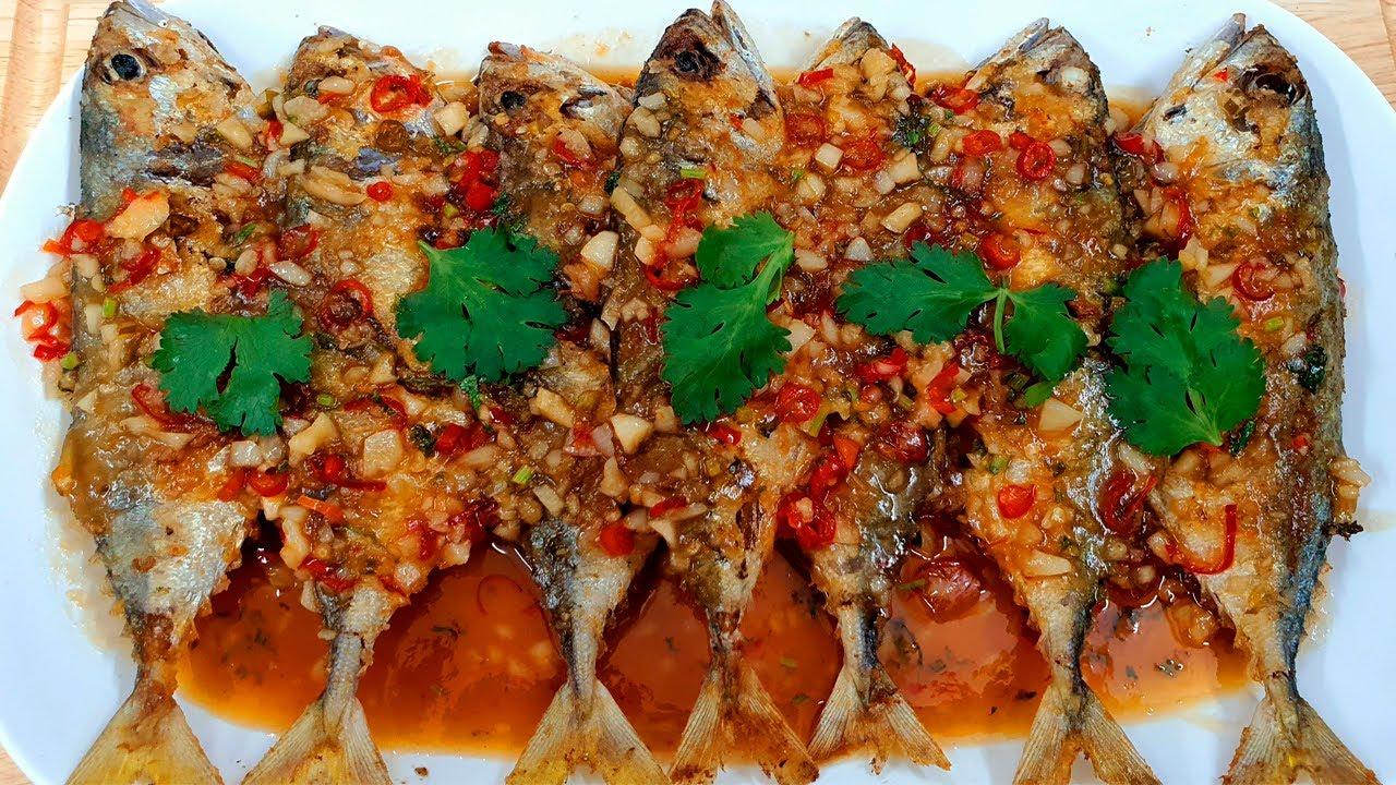 ปลาทูราดพริก 3 รส  เมนูอร่อย ทำง่ายๆ ได้ใจทุกคน make Thai 3 flavoured fish