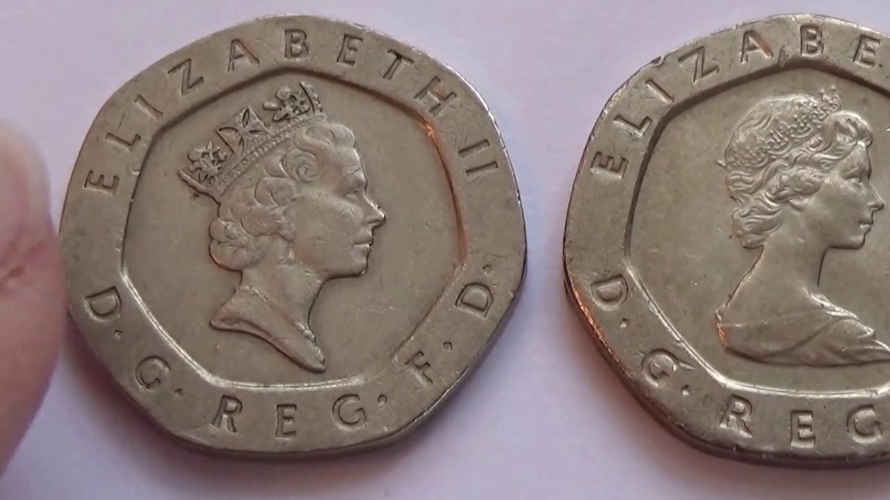 Two Twenty Pence Queen Elizabeth Ii Coins