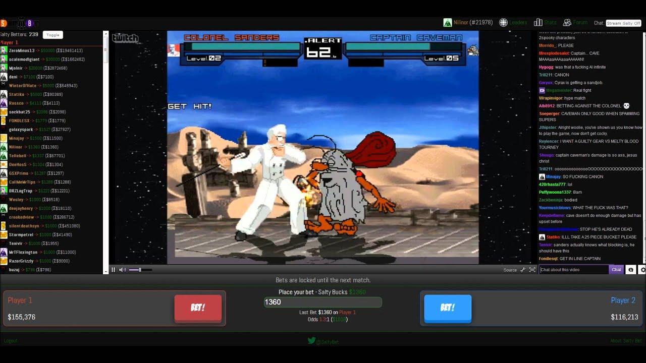 salty bets colonel sanders vs captain caveman youtube