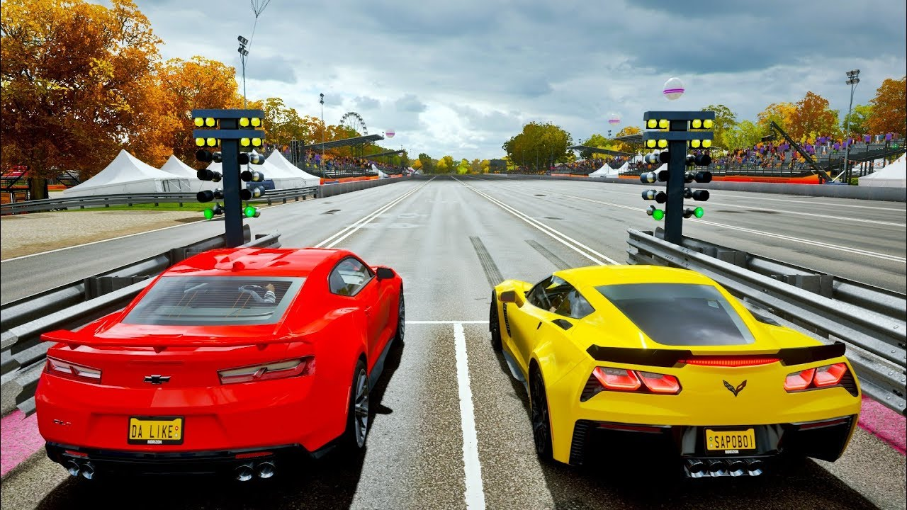 Forza Horizon 4 Camaro Zl1 Vs Corvette Z06 Gameplay