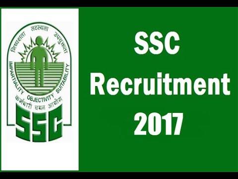 SSC RECRUITMENT 2017    RECRUITMENT OF SCIENTIFIC ASSISTANT