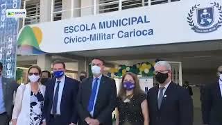 Presidente Jair Bolsonaro inaugura mais uma escola cívico militar. Desta vez no Rio de Janeiro.