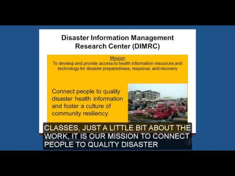 Updated and Enhanced Online Disaster Health Information Training Classes - January 12, 2017