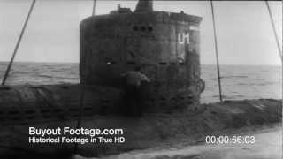 HD Stock Footage Re-Armed Germany Gets First U-Boat 1957 Newsreel