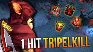 1 HIT TRIPELKILL - Bounty Hunter 2x Battle Fury 2x Divine Rapier by Waga 7.10   Dota 2