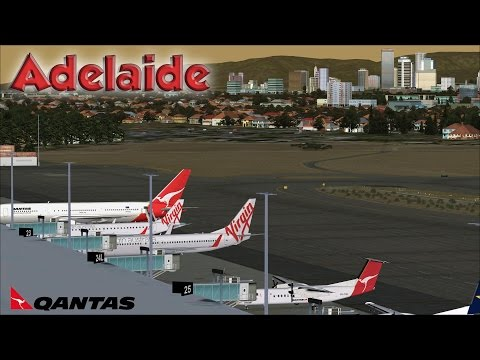 FSX [HD] - Qantas | Boeing 767-300 | Approach to Adelaide