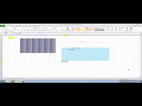 How to Give your Cells a Background Pattern or Gradient in Excel 2010