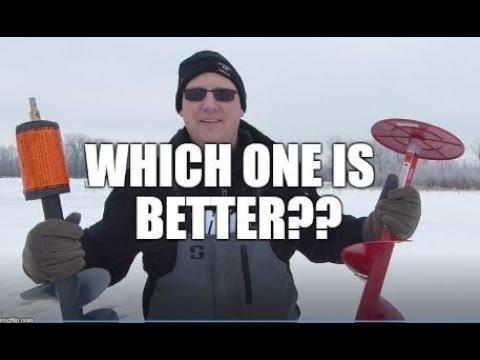 Eskimo Pistol Bit VS KDrill Ice Auger