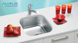Установка кухонной мойки Alveus под столешницу (www.santehimport.com)(Установка кухонной мойки под столешницу - еще довольно новый у нас способ установки. Он имеет много преимущ..., 2016-07-18T13:30:46.000Z)