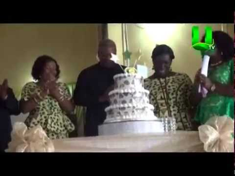 Mahama celebrates with Aburi Girls School
