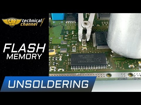 FLASH memory unsoldering - how to do it correctly?
