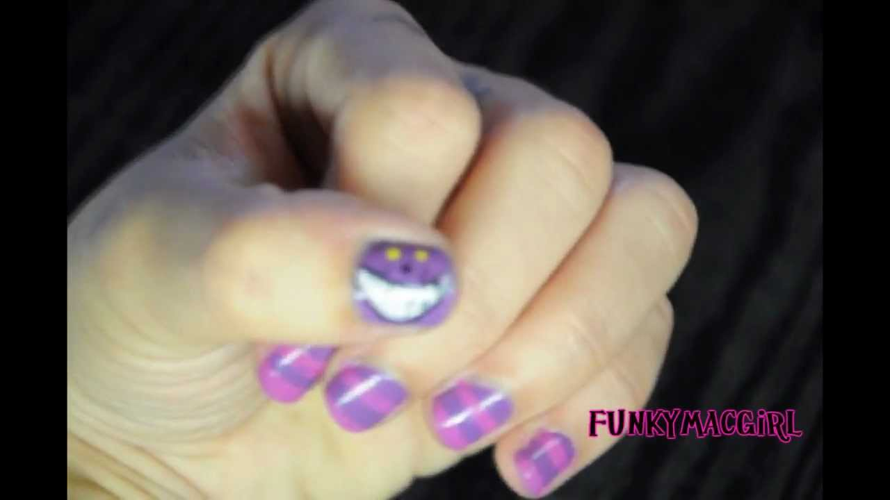 cheshire cat nail art