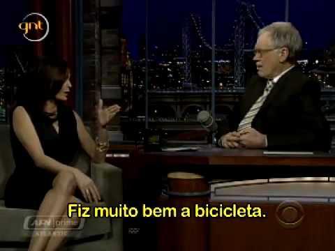 (David Letterman Legendado)  Teri Hatcher conta sua experiência em um triatlo