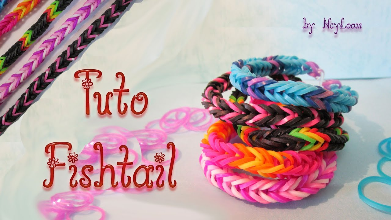 tuto bracelet lastique fishtail rainbow loom hd simple d butant youtube. Black Bedroom Furniture Sets. Home Design Ideas
