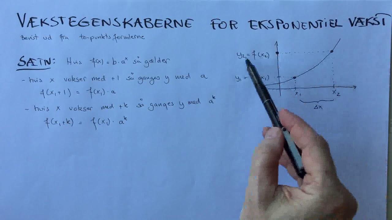 Vækstformel for eksponentiel vækst