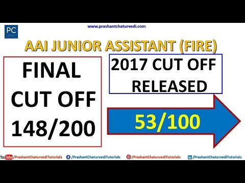 #AAI #JUNIOR #ASSISTANT (FIRE SERVICES) 2017 CUT OFF RELEASED