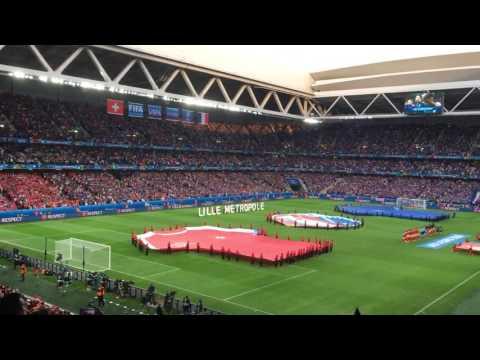La Marseillaise France - Suisse / Euro 2016/ Stade Pierre Mauroy / Lille