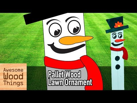 Frosty The Snowman Pallet Wood Lawn Ornament DIY