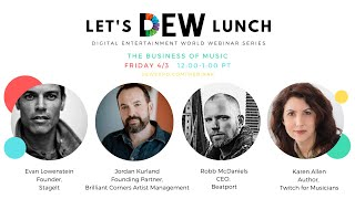 Let's DEW Lunch Webinar with Stageit, Beatport, and Brilliant Corners (April 3, 2020)
