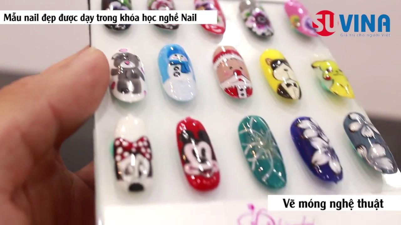 Các mẫu móng mẫu nail đẹp được dạy trong khóa học nghề nail uy tín