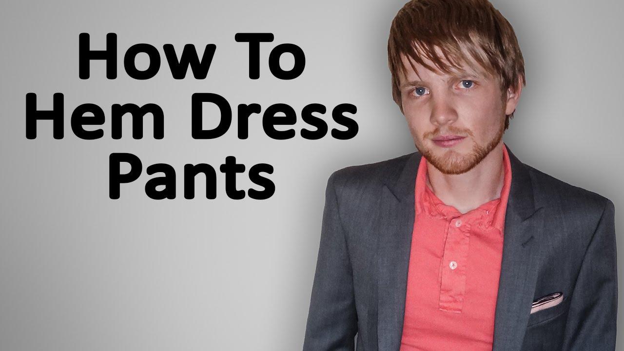 How To Hem Dress Pants Blind Stitch Doovi