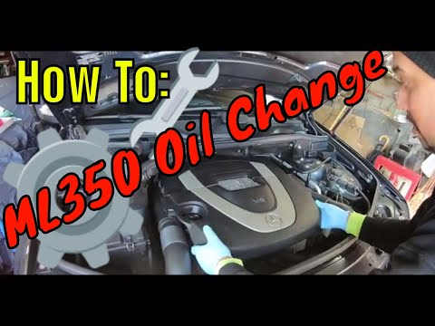 how to change oil mercedes clk
