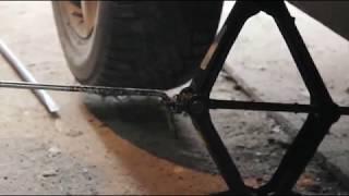 Как быстро поднять машину домкратом