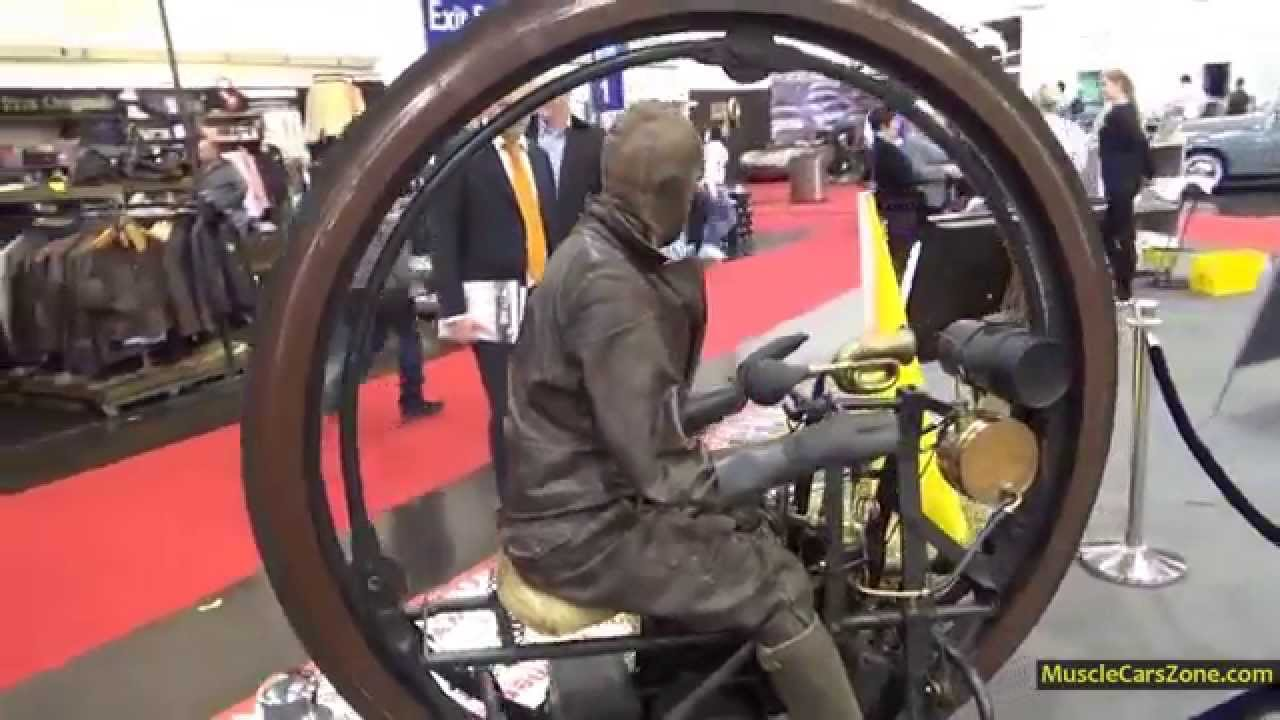 The Oldest 1894 One Wheel Motorcycle In The World 2014