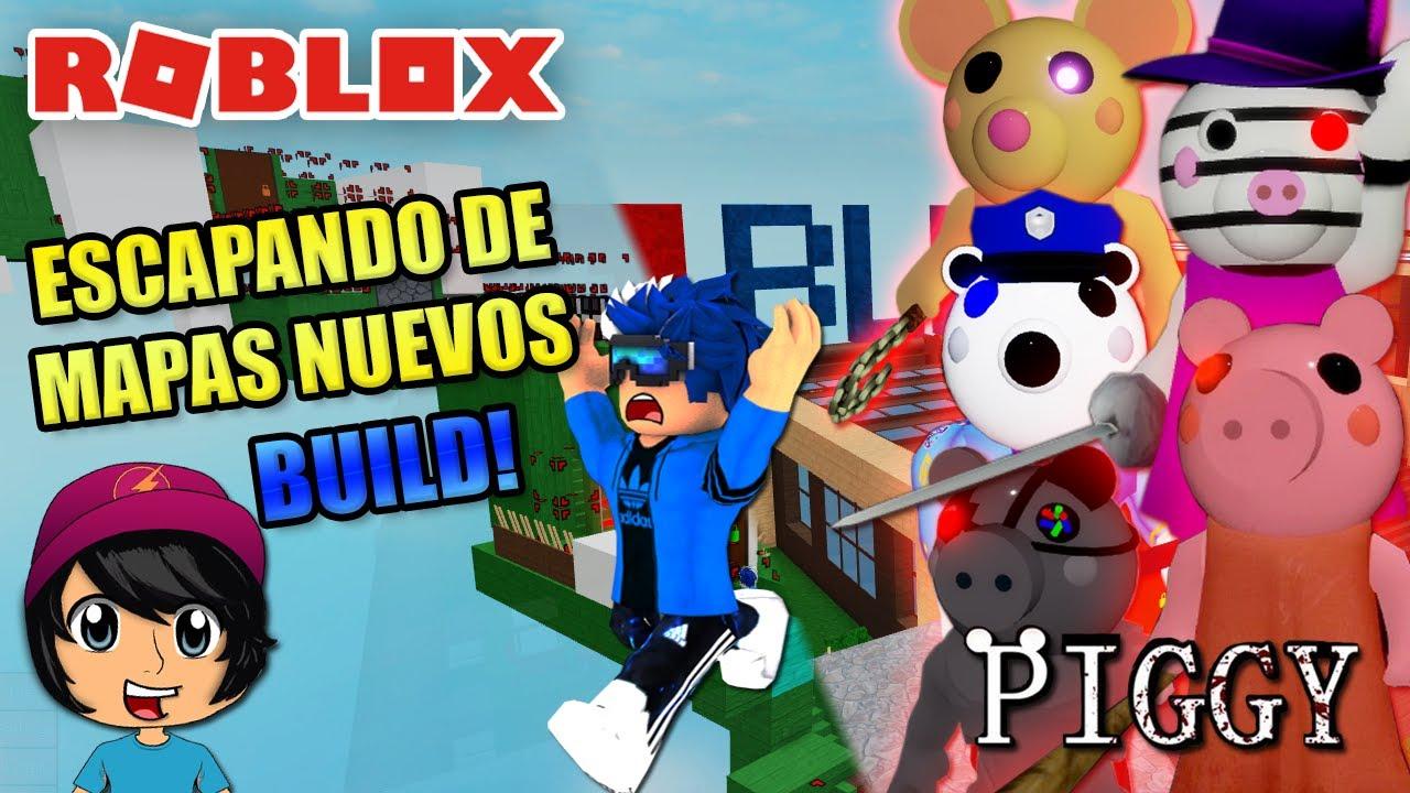 MAPAS NUEVOS! ESCAPANDO EN PIGGY MODO CONSTRUCCIÓN! | Soy Blue | Piggy Roblox Español